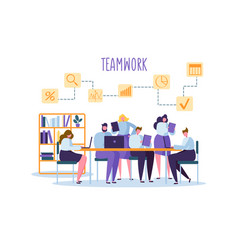corporate business team people behind desk vector image