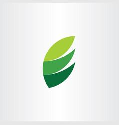 e logo letter green icon leaf natural symbol vector image