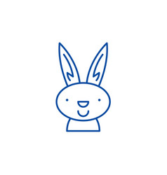 easter bunny line icon concept easter bunny flat vector image