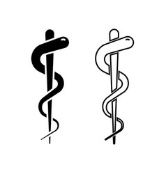 emergency medicine snake isolated icons first aid vector image