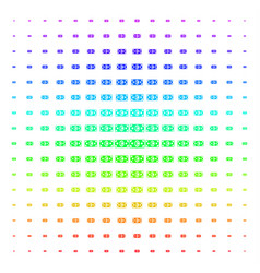 euro banknote shape halftone spectrum pattern vector image