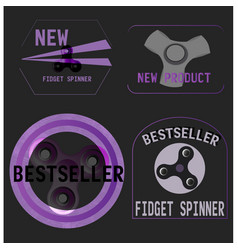 Fidget spinner banners vector