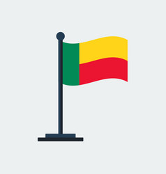 flag of benin flag stand vector image