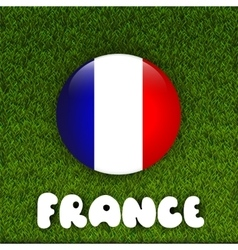 Flag of France on green grass field vector