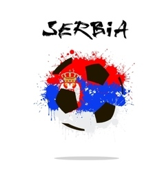 Flag of Serbia as an abstract soccer ball vector
