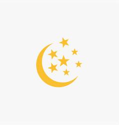 flat moon icon vector image