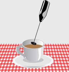 Frother for milk and coffee vector image