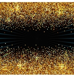 Golden sparkles background vector image