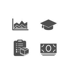 graduation cap trade infochart and parcel vector image