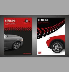 Grunge tire poster set vector