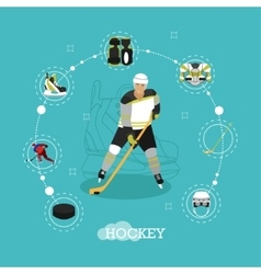 ice hockey player Man in vector image