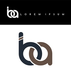 Initial letter linked circle lowercase logo vector