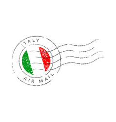 italy postage mark national flag postage stamp vector image