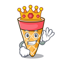 King ice cream tone mascot cartoon vector