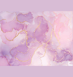 Liquid gold rose marble canvas abstract painting vector