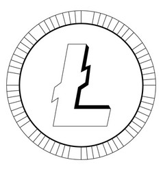 litecoin virtual money currency cryptocurrency vector image