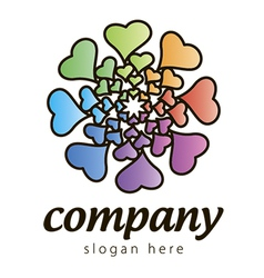 Logo hearts vector
