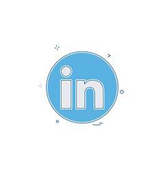 Media network social linkedin icon design vector