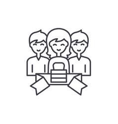 membership line icon concept membership vector image