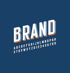 Modern bold 3d font design alphabet letters and vector