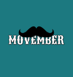 Moustaches movember blog post template for vector