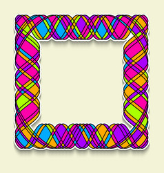 multicolor square frame in the style of random vector image
