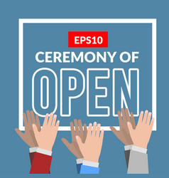 Opening ceremony with applause vector