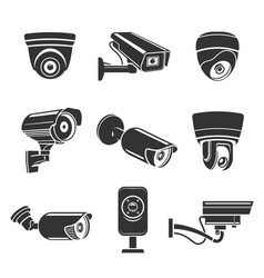 outdoor security cameras vector image