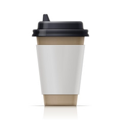 Paper cup for fast-food drink vector