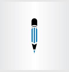 pencil symbol icon logo sign vector image