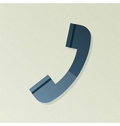 Phone support halftone stylized vector image
