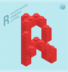 plastic blocs letter r vector image
