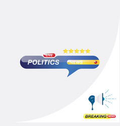 Politics news icon for journalism news tv vector
