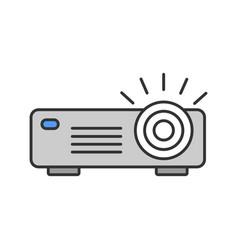 Projector color icon vector