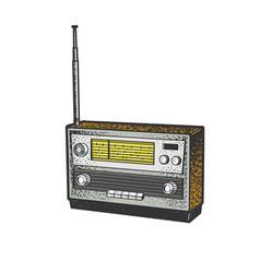 Radio sketch vector