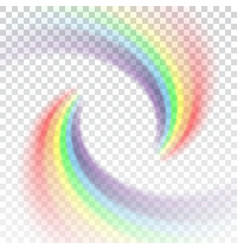 Rainbow icon cartoon isolated white background vector