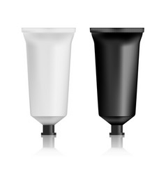realistic black and white lotion or cream vector image
