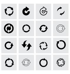 refresh icon set vector image