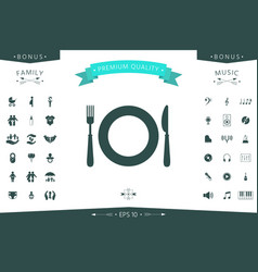 restaurant icon symbol vector image