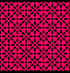 seamless black and pink pattern with tile print vector image