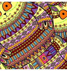 Seamless cat pattern ornamental background vector image