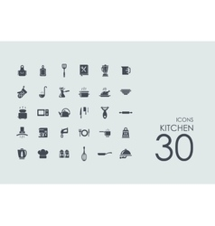 Set of kitchen icons vector