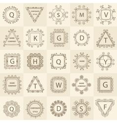 Set ornament logos design company vector image vector image