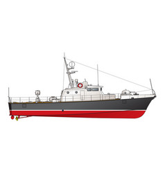Small patrol boat vector