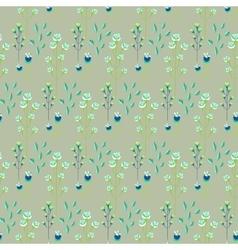 Spring wild flower khaki millefleurs field vector