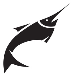 Sword fish icon vector