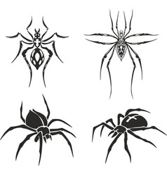 tattoo set of spiders vector image