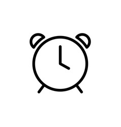 Thin line clock alarm icon vector
