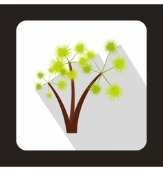 Three palm trees icon in flat style vector image