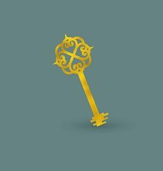 Vintage Golden Key vector